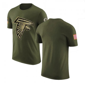 Youth Blank Atlanta Falcons Olive Salute to Service Legend T-Shirt