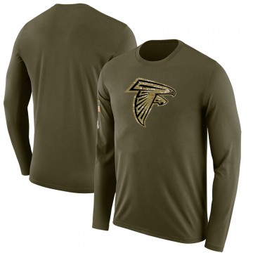 Youth Blank Atlanta Falcons Salute to Service Sideline Olive Legend Long Sleeve T-Shirt